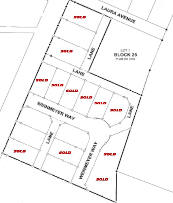 Prairie Winds Subdivision Map - SOLD 600